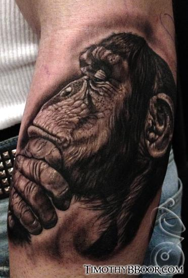 Chimp Tattoo Design Thumbnail
