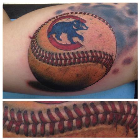 Chicago Cubs Baseball Tattoo Design Thumbnail