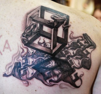 Timothy B Boor - M.C.Escher  Tattoo