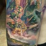 Landscape Scenery - In Progress Tattoo Design Thumbnail