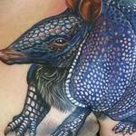Blue Armadillo Tattoo Design Thumbnail