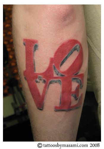 philadelphia love park tattoo by masami pinky inagaki