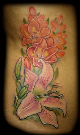 Flower Gallery on George Perham Tattoos   Tattoos   Color   Lily Tattoo