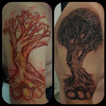 Freehand Oak tree Design Thumbnail