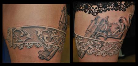 Tattoos - Gun and garter belt - 62542