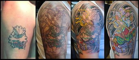George Scharfenberg  - Progression of Japanese cover up.