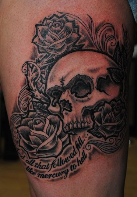 Tattoos - Skull and roses - 57679