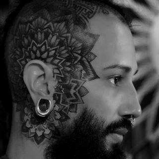 Tattoos - Mandala on Head - 126232