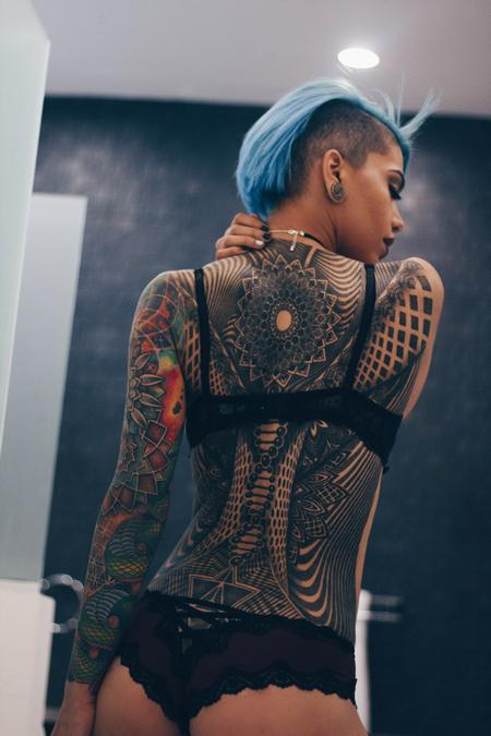 Sacred Geometry Back and Sleeve  Tattoo Design