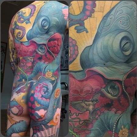 Tattoos - Octopus Backpiece - 110125