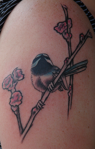 Tattoos - japanese inspired chickadee - 28972