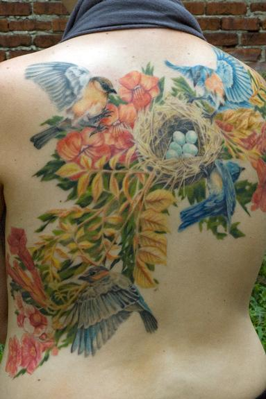 Tattoos - Bluebirds - 54056