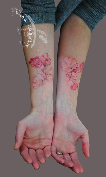 Cherry Blossoms Tattoo Design