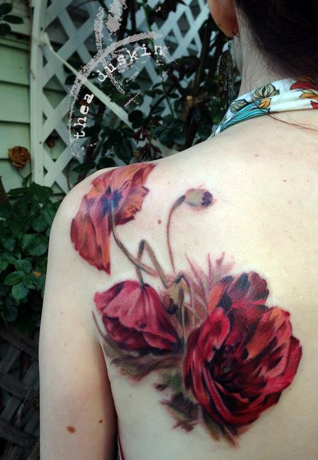 Tattoos - Victorian Poppy - 91468
