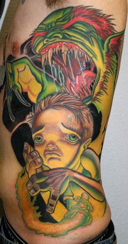 Tattoos - Monster - 18153