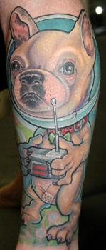 Tattoos - Space Dog Tattoo - 30874