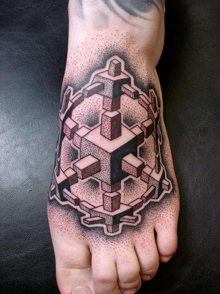 Tattoos - dotwork foot tattoo - 54752