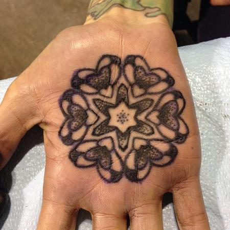 Tattoos - Palm heart mandala - 99212