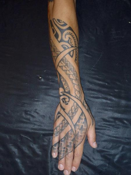 Poly fusion arm/hand Tattoo Design Thumbnail