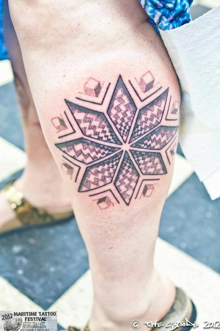 Blackwork Leg Tattoo Tattoo Design Thumbnail