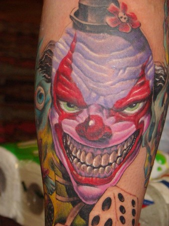 evil clown tattoos. Tattoos middot; Page 1. Evil Clown