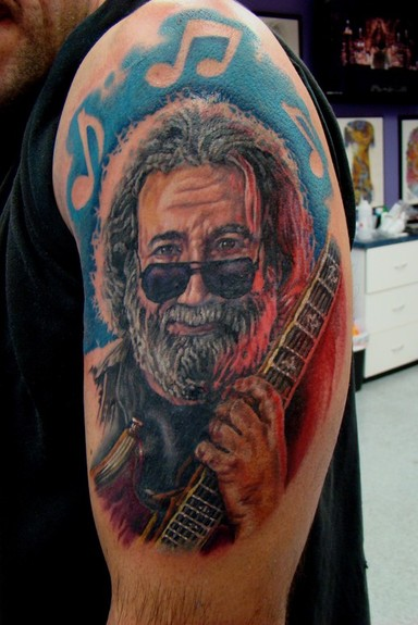 jerry garcia portrait by daniel tattoonow