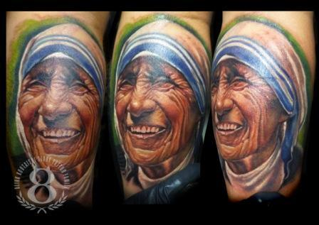 Mother Teresa of Calcutta Tattoo Design