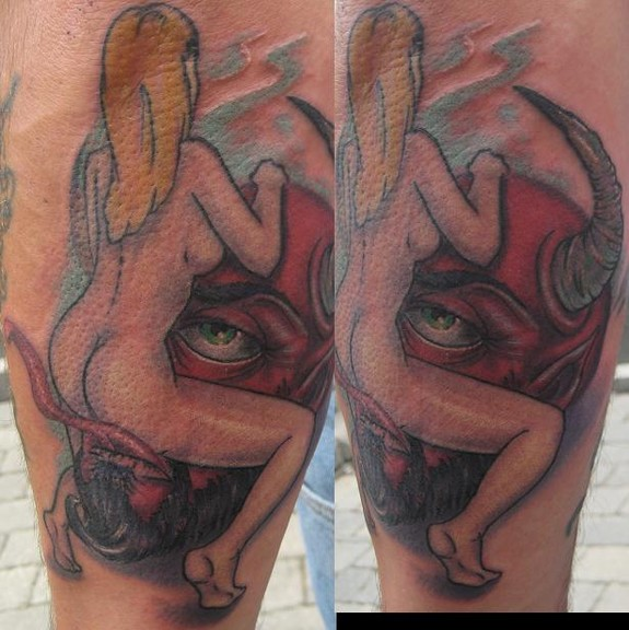 Tongue rides by brian gallagher tattoonow for Living dead tattoo haverstraw ny