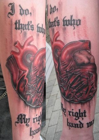 Broken heart by brian gallagher tattoonow for Living dead tattoo haverstraw ny