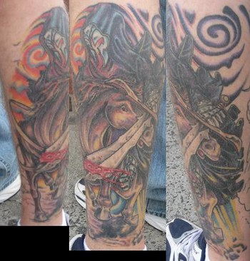 Zombie sleeve by brian gallagher tattoonow for Living dead tattoo haverstraw ny