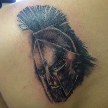 300 tattoo by brian gallagher tattoonow for Living dead tattoo haverstraw ny