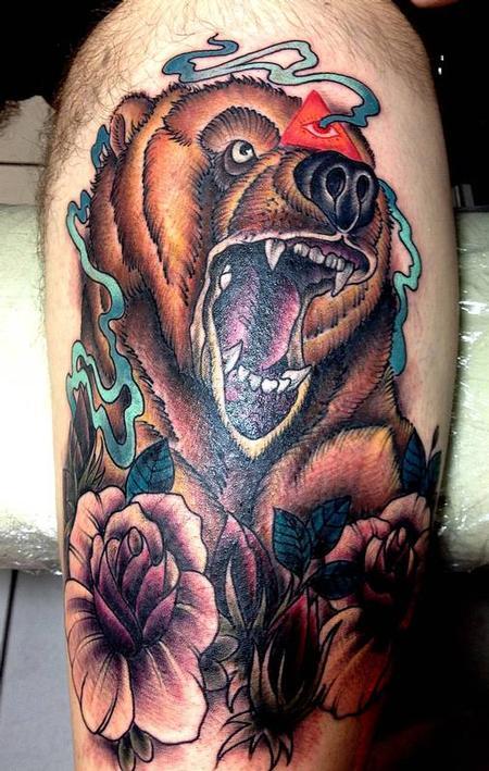 Bear Tattoo Tattoo Design Thumbnail