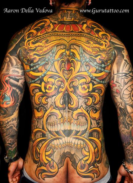 Tibetan Skull Back Piece Tattoo Tattoo Design