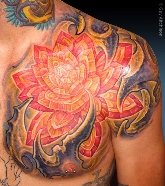 Tattoos - Brian, crystal Lotus - 72518