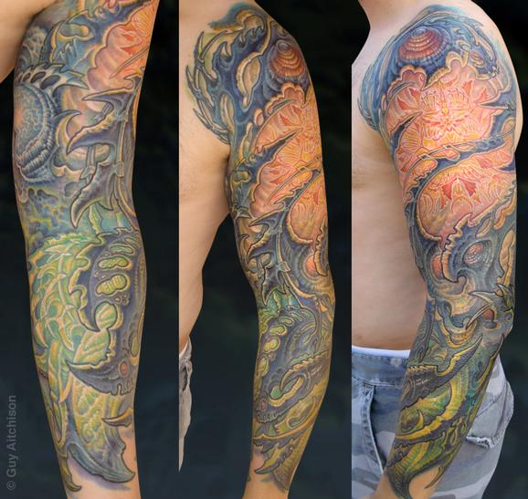 Tattoos - Anthony, multiple light source bio sleeve - 72583