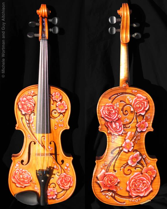 Guy Aitchison - Decorated violin by Michele Wortman and Guy Aitchison
