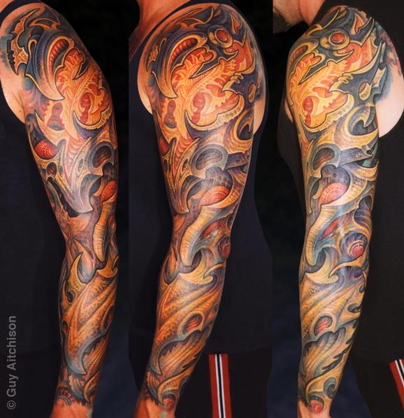 Tattoos - Jim, heavy bio sleeve - 72596