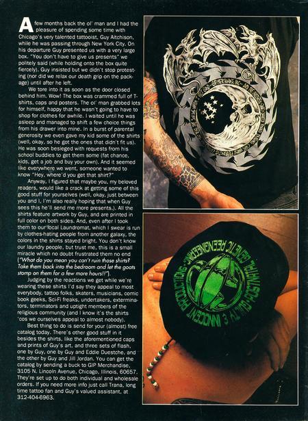 - Tattoo Revue Magazine, 1993 - Page 2