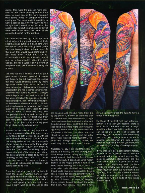 - Tattoo Artist Mag feature, 2003, Page 8