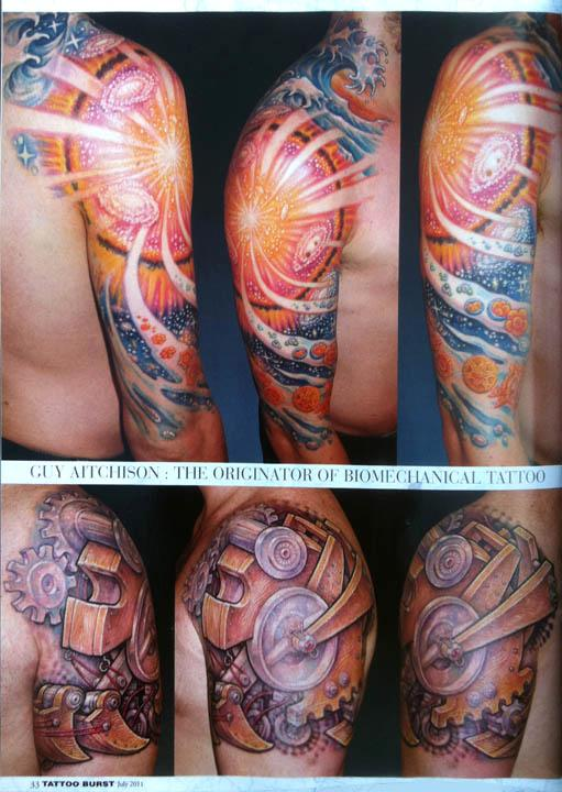 - Aitchison - Japan, Tattoo Burst Magazine, 2011, Page 8