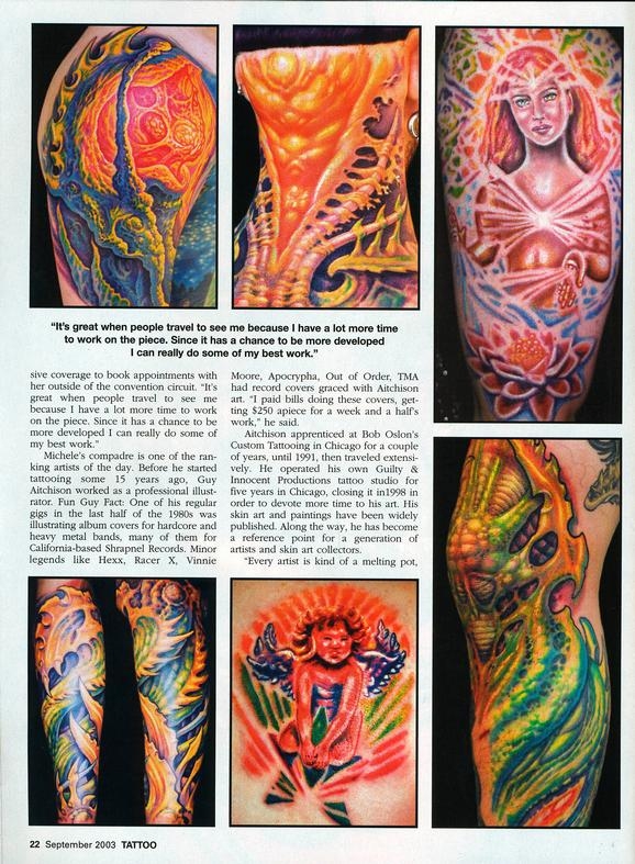 - Aitchison/Wortman, Tattoo Magazine, 2003, Page 3