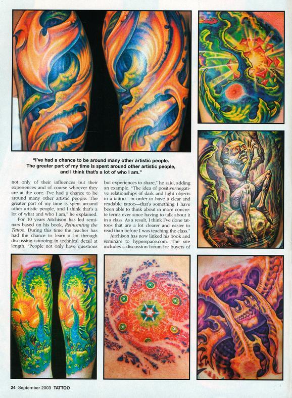 - Aitchison/Wortman, Tattoo Magazine, 2003, Page 5