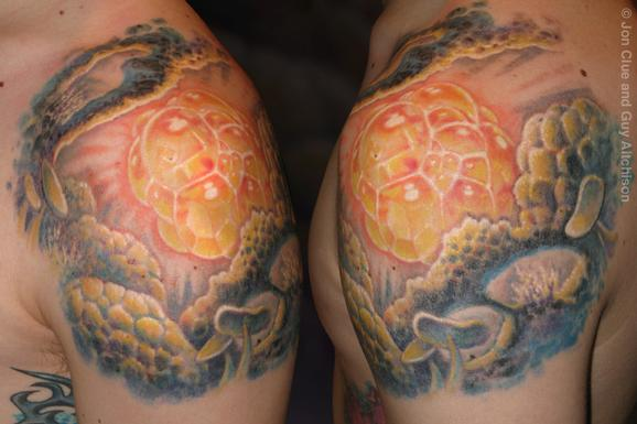 Tattoos - Cosmic foam, Collaboration by Jon Clue and Guy Aitchison - 72435