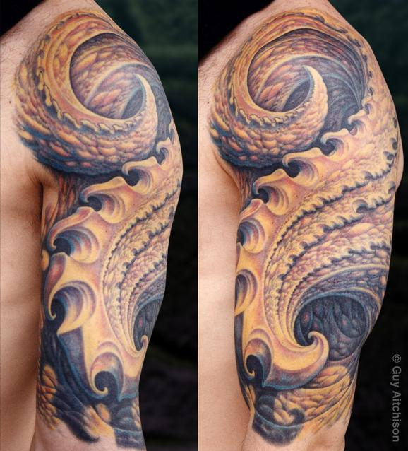 Tattoos - Larry, hook half sleeve - 72613