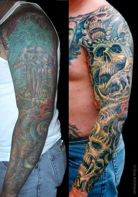 Tattoos - Robert, 3 laser sessions and three passes of tattooing - 71547