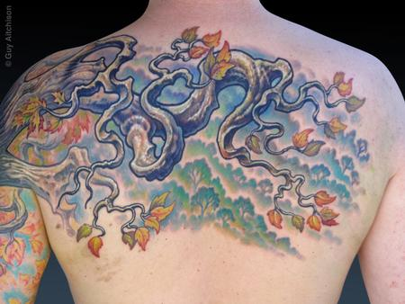 Guy Aitchison - Uli, after one long tattoo session