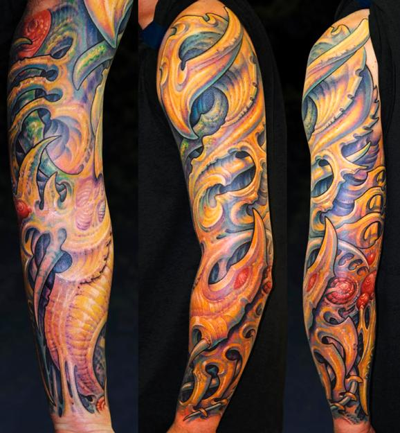 Tattoos - JJ, Biomech sleeve - 75930