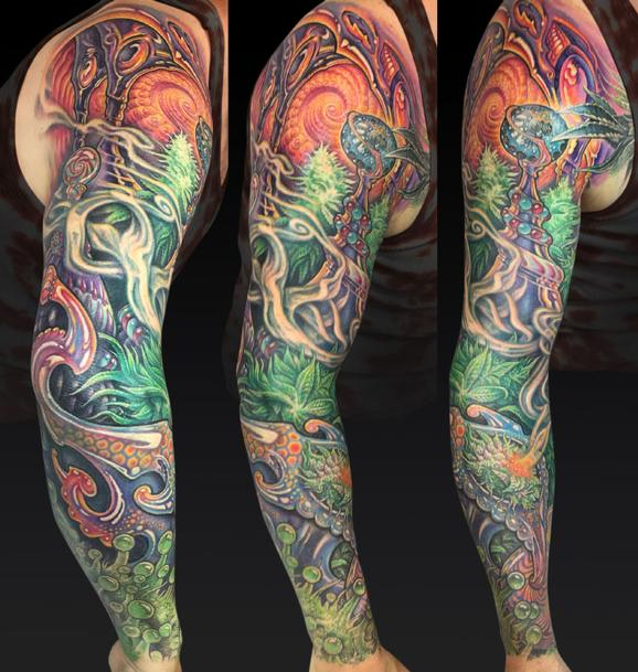 Tattoos - Wonka Weed Web - 122041
