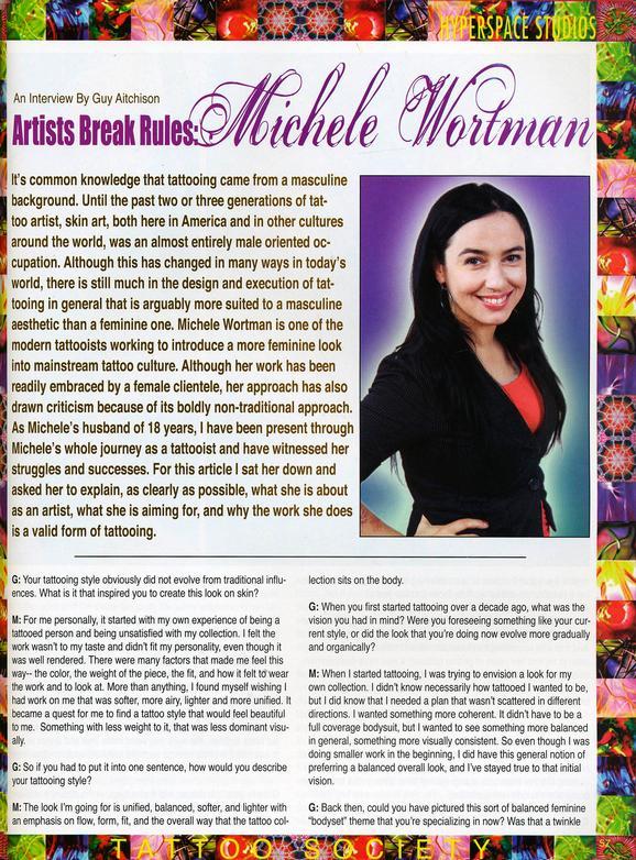 - Wortman - Tattoo Society Magazine, 2010, Page 1
