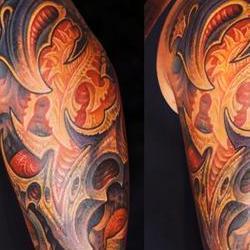 Tattoos - Jim, heavy bio sleeve - 72596